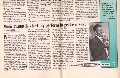 1998 Florida Evangelism Conference - FBC West Palm Beach